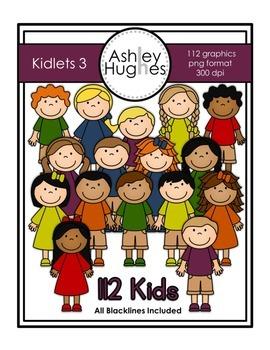 Kidlets Clipart Set 3 {A Hughes Design}