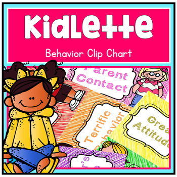 Kidlette Theme Behavior Clip Chart - Dots Chevron Scribble and BW