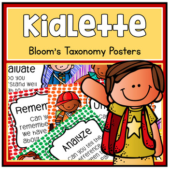 Kidlette Theme Bloom's Taxonomy Chart Posters