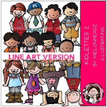 Melonheadz: Kidlettes 2 LINE ART