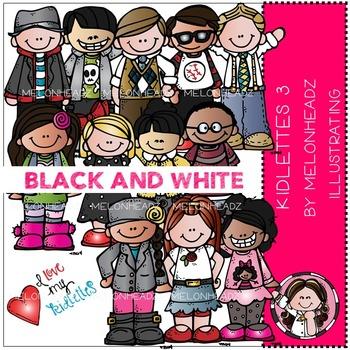 Melonheadz: Kidlettes 3 BLACK AND WHITE