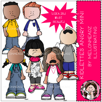 Kidlettes - Angry clip art - Mini - by Melonheadz