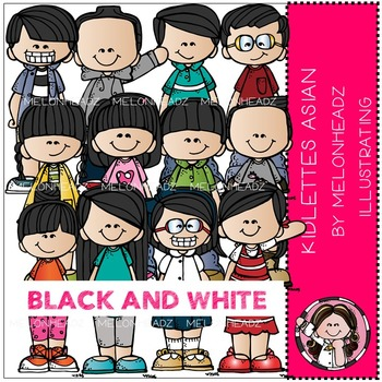 Kidlettes Asian by Melonheadz BLACK AND WHITE