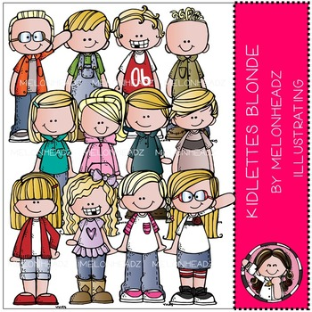 Kidlettes Blonde by Melonheadz COMBO PACK