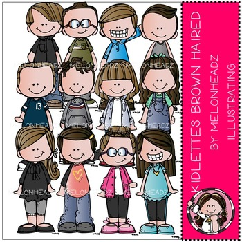 Kidlettes Brown Haired by Melonheadz COMBO PACK