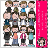 Kidlettes clip art - Brown Haired - COMBO PACK - by Melonheadz