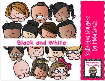 Kidlettes Hangerz by Melonheadz BLACK AND WHITE