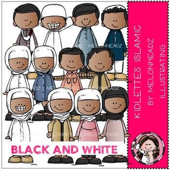 Kidlettes Islamic by Melonheadz BLACK AND WHITE