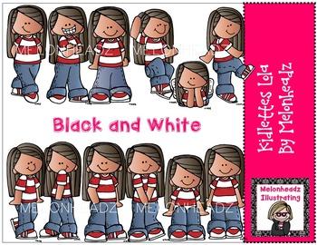 Kidlettes Lola by Melonheadz BLACK AND WHITE