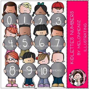 Kidlettes Numbers clip art - COMBO PACK- by Melonheadz