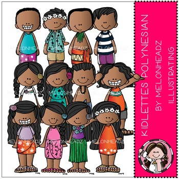 Kidlettes clip art - Polynesian - COMBO PACK- by Melonheadz