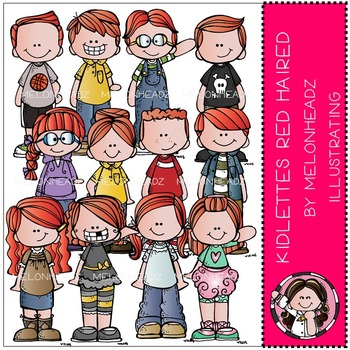 Kidlettes clip art - Red Haired - by Melonheadz