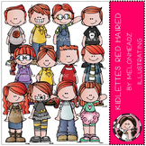 Kidlettes clip art - Red Haired - COMBO PACK - by Melonheadz