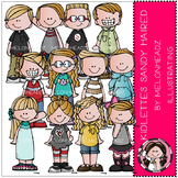 Kidlettes clip art - Sandy Haired - COMBO PACK - by Melonheadz