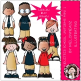Kidlettes School Uniforms clip art - Mini - Melonheadz Clipart