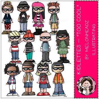 Kidlettes clip art - Too Cool - by Melonheadz