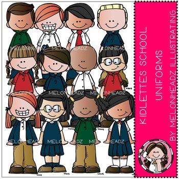 Kidlettes School Uniforms clip art - by Melonheadz