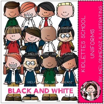 Kidlettes School Uniforms by Melonheadz BLACK AND WHITE