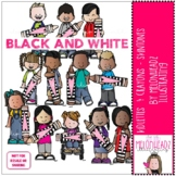 Kidlettes and Crayons - Skintones - BLACK AND WHITE - by M