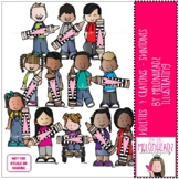 Kidlettes and Crayons clip art - Skintones - COMBO PACK -