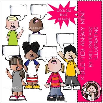 Kidlettes clip art - Angry - Mini - Melonheadz Clipart
