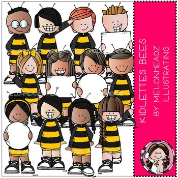 Kidlettes clip art - Bees - COMBO PACK - Melonheadz Clipart