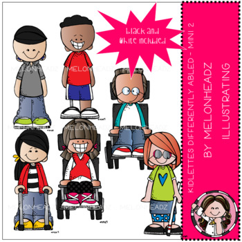 Kidlettes clip art - Differently Abled - Mini - Set 2 - by Melonheadz