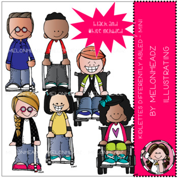 Kidlettes clip art - Differently Abled - Mini - by Melonheadz