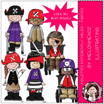 Kidlettes clip art - Differently Abled - Pirates - Mini - by Melonheadz