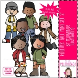 Kidlettes clip art - Fall - Mini - Set 2 - by Melonheadz Clipart