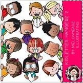 Kidlettes clip art - Hangerz - Set 2 - COMBO  PACK - Melonheadz Clipart