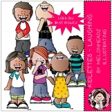 Kidlettes clip art - Laughing - Mini - By melonheadz