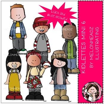 Kidlettes clip art - Mini - Set 6 - Melonheadz Clipart