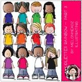 Kidlettes clip art - Rainbow - Set 3 - COMBO PACK - Melonheadz Clipart