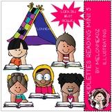 Kidlettes clip art - Reading - Set 5 - Mini - Melonheadz Cliaprt