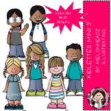 Kidlettes clip art - Set 5 - Mini - Melonheadz Clipart