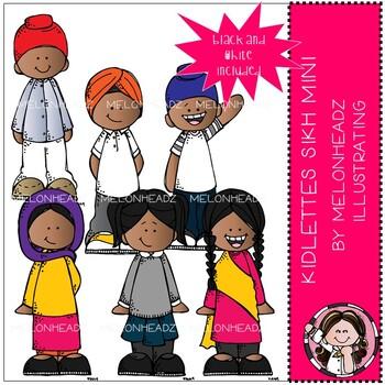 Kidlettes clip art - Sikh - Mini - Melonheadz Clipart