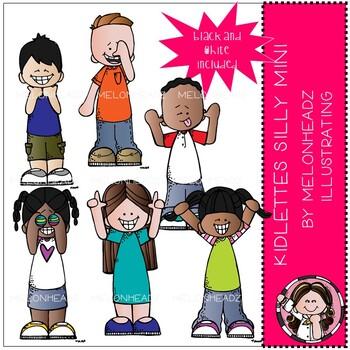 Kidlettes clip art - Silly - Mini - Melonheadz Clipart