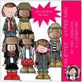 Kidlettes clip art - Winter - Mini - Melonheadz Clipart