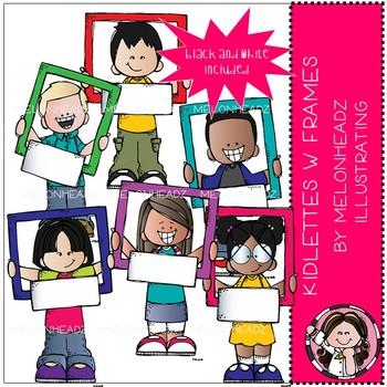 Kidlettes clip art - with frames - Mini - Melonheadz Clipart