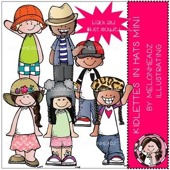 Kidlettes in Hats clip art - Mini - by Melonheadz