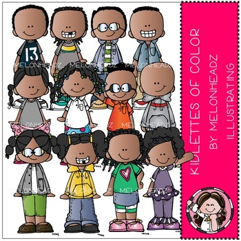 Kidlettes of Color clip art - COMBO PACK- by Melonheadz
