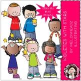 Kidlettes with Stars clip art - Mini - Melonheadz Clipart