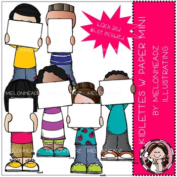Kidlettes with paper clip art - Mini - by Melonheadz