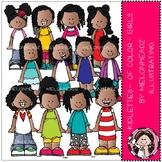 Kidletts clip art - Of Color - Girls - COMBO PACK - Melonh