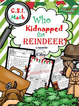 Kidnapped Reindeer {C.S.I Math Review} NO PREP