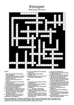 Kidnapped by Robert Louis Stevenson - Crossword Puzzle