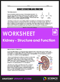 Kidney Anatomy - Structure and Function (HS-LS1)