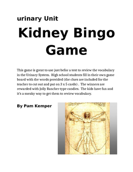 Kidney Bingo Review Game