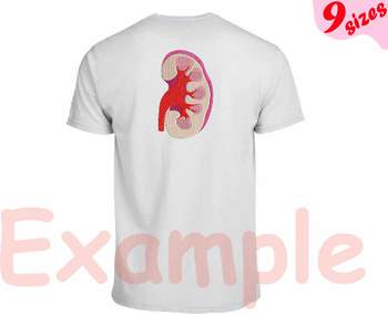 Kidney Embroidery Design science school nurse biology Medic Organs Anatomy  169b